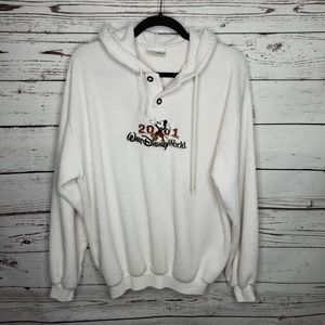 Vintage Disney Terry Cloth Hooded Sweater Size Med